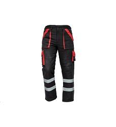 Montérkové kalhoty MAX REFLEX WINTER pánské zimní do pasu černo-červené