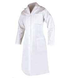 Plášť ELIN dámský s dlouhým rukávem bílý