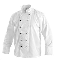 Kuchařský rondon RADIM s dlouhým rukávem a dvouřadým zapínáním bílý