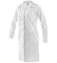 Plášť EVA dámský dlouhý vzadu volný pásek s knoflíkem na stáhnutí bílý