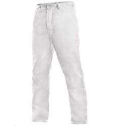 Kalhoty ARTUR pánské do pasu v zadní části poutka s knoflíky na stáhnutí bílé