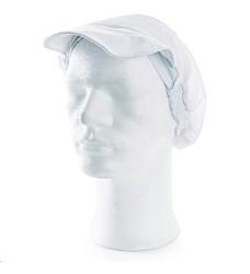 Kuchařská čepice NELA dámská s kšiltem a gumou 100% bavlna 190g/m2 bílá