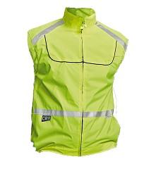 Vesta TEKKA reflexní žlutá cyklistická celopropínací na zip 3M reflexní doplňky