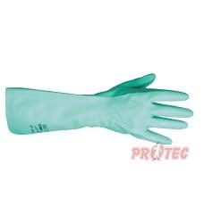 Rukavice nitrilové SOLVEX, A 37-695  silné zelené, antistatické, 38cm, Ansell,