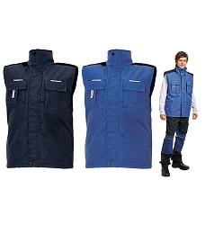Vesta p�nsk� POPRAN, zateplen�, 100 % polyester, st�. modr�, reflexn� dopl�ky, AKCE!!
