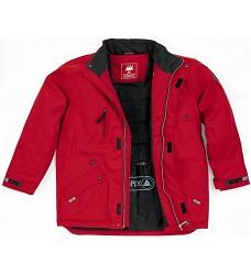 Bunda  zimní ADMIRAL červená, PAD, Doprodej !