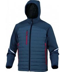 Bunda MOTION z dvojího materiálu, s kapucí, softshell 96%, polyester 4% elastan
