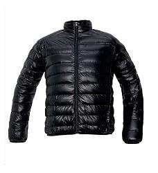 Bunda zimní pánská OISLY MAN s kapucí imitace peří DOPRODEJ!  sbalitelná do sáčku černá