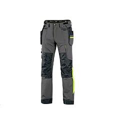 Kalhoty NAOS CXS pánské pasové šedo-černé HV žluté doplňky