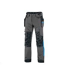 Kalhoty NAOS CXS pánské pasové šedo-černé HV modré doplňky