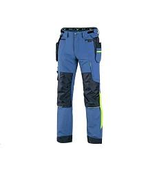 Kalhoty NAOS CXS pánské pasové modro-modré HV žluté doplňky