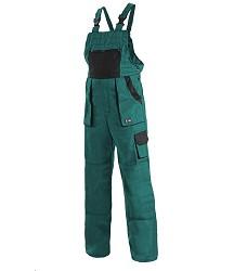 Kalhoty s laclem CXC LUXY MARTIN zimní zeleno/černá