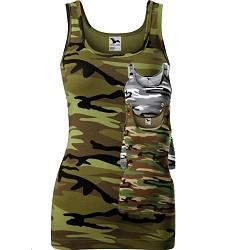 Tílko TOP TRIUMPH New dámské, přiléhavý střih, 95% bavlna / 5 % elastan, maskáčové barvy