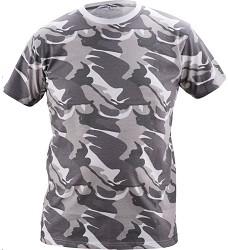 Triko CRAMBE šedé s krátkým rukávem camouflage 100% bavlna 180g/m2