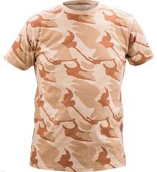 Triko CRAMBE béžové s krátkým rukávem camouflage 100% bavlna 180g/m2