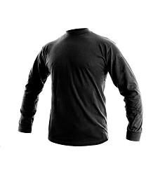 Tričko PETR pánské s dlouhým rukávem 100 % bavlna 140 g/m2 černé