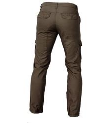 Kalhoty TANANA panské, moderní střih, DOPRODEJ 100% bavlna, hnědé