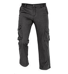 Kalhoty RAHAN pánské zateplené, svrchní materiál 100 % bavlna kanvas 235 g /m2, černé