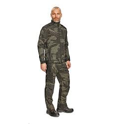 Kalhoty CRAMBE pánské z lehkého T/C twillu olivové camouflage, 190g/m2