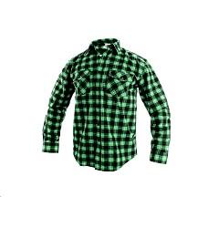 Košile TOM pánská flanelová s dlouhým rukávem zeleno-černá