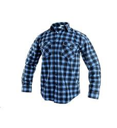 Košile TOM pánská flanelová s dlouhým rukávem modro-černá