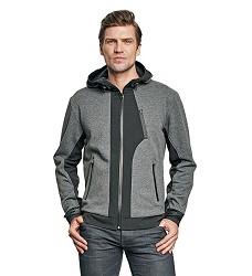 Bunda STRIB pásnká, 65% polyester/35% bavlna, vodní sloupec 5000 mm,šedá