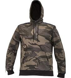 Mikina CRAMBE HOODIE pánská olivová camouflage s kapucí a klokankou
