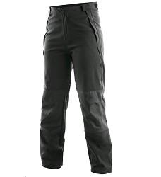Kalhoty BOSTON unisex softshellové do pasu černé