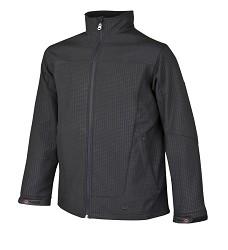 JACOB H2107 pánská softshellová bunda s potiskem bez kapuce, černá