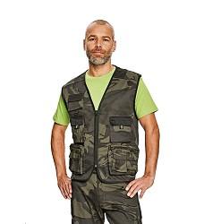 Vesta CRAMBE panská lehká vesta z T/C twillu olivová camouflage