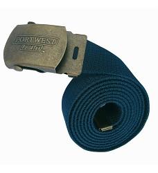 Opasek C107 elastický 100% polyester se sponou, tmavě modrý