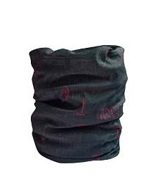 Multifunkční šátek CLIFF, černý s potiskem, CRV,  velikost UNI