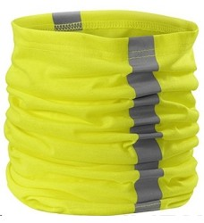 Šátek multifunkční unisex TWISTER žlutý,oranžový výstražný s reflexními pásky