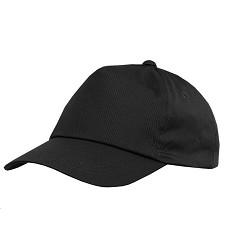 Čepice baseballová PHIL šestipanelová s plastovým zapínáním  černá