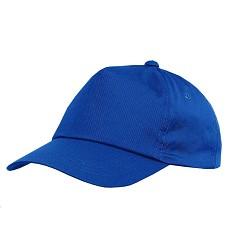 Čepice baseballová PHIL šestipanelová s plastovým zapínáním světle modrá