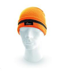 Čepice KEADY VW21502 reflexní zimní pletená oranžová