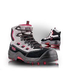 Kotníková obuv DENVER 2670-S1P NON Metalic, pracovní kožená s textilem