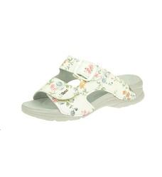 Pantofle PEON PE/301-5F bílé květinové