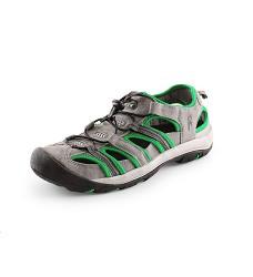 Obuv SAHARA kombinované outdoorové sandále šedo-zelené
