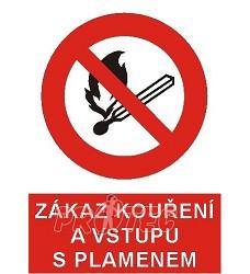 B.t. pl. Zákaz kouř. a vst. s plam. 210/297