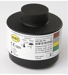 Filtr kombinovaný  A2-P3 D R,  AVEC závit 40x 1,7 palce 1, kus  AFC122025