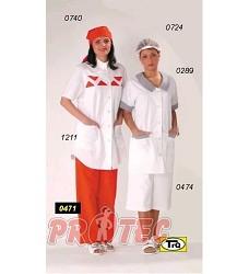 Kalhoty dámské 3/4 pas vz.474 bílé  plátno 145g/m2