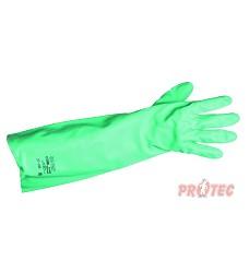 Rukavice nitrilové SOLVEX  A37-185 zelené, antistatické, 45,5cm