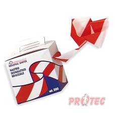 Páska výstražná červenobílá  09300, délka 200m/šířka pásky 7 cm