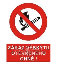 B.t.pl.Zákaz výskytu otevř.ohně A4