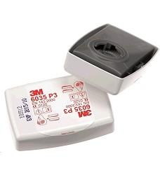 Filtr 3M typ 6035 P3 k polomaskám cena za 1ks / baleno po 2kusech FFP3