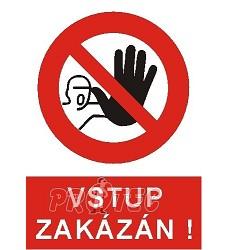 B.t.pl.Symbol Zákaz vstupu 20cm
