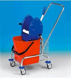 Úklidový vozík CLAROL 17 l , 21005 C - pojezdová konstrukce, bez  košíku, EAST