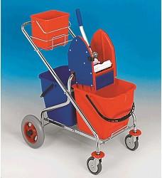 Úklidový vozík 2x17, REKORD METRO 210031KL,sklapovací