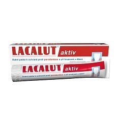 Zubní pasta LACALUT 2 druhy - aktiv,sensitiv 75ml